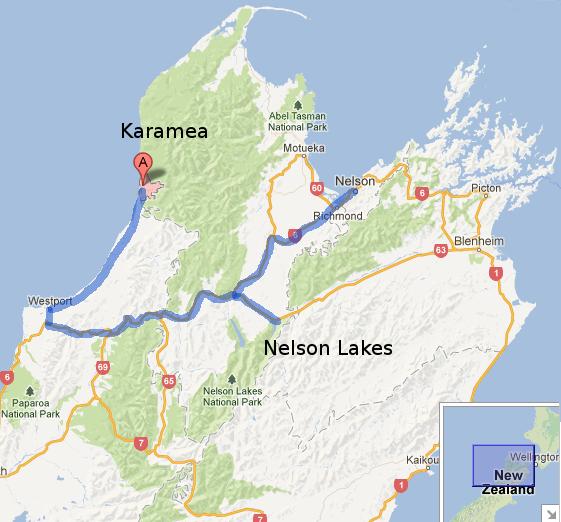 Karamea map
