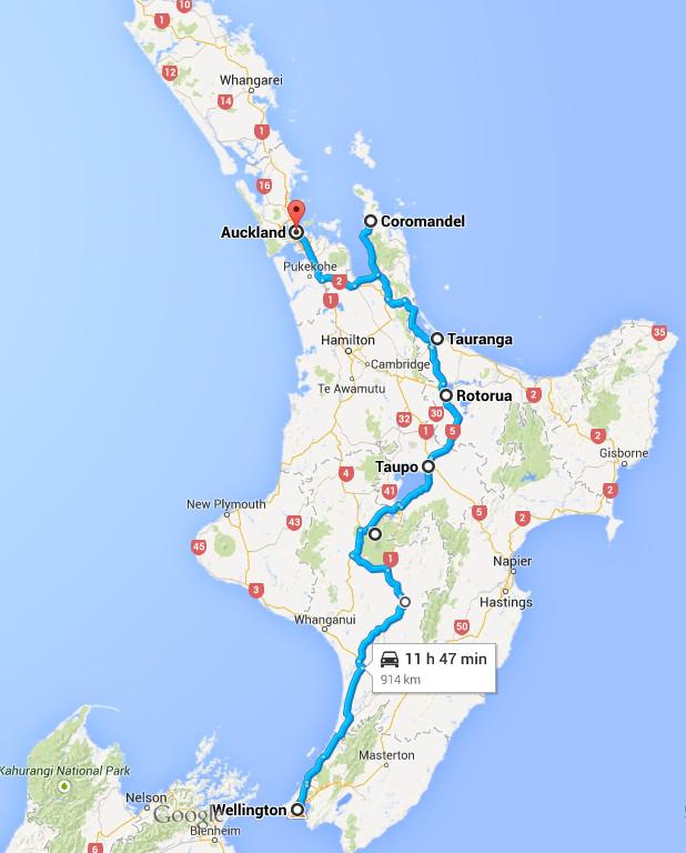 Road trip île du Nord