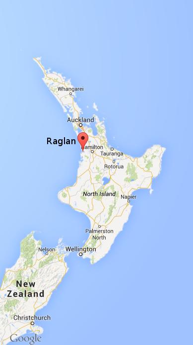 Raglan town, New-Zealand